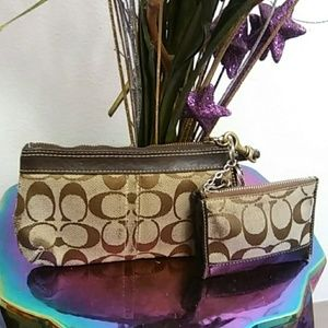 Coach wristlet and coin purse